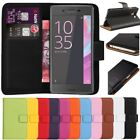 Premium Leather Flip Book Wallet Case Cover For Sony Xperia X &Free Screen Guard