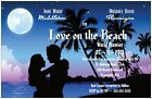 30 50 80 100 LOVE on the Beach Hollywood MOVIE 6x9 WEDDING Invitation Custom