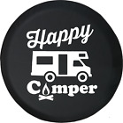 Happy Camper Camp Fire  Trailer RV Spare Tire Cover OEM Vinyl