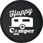 Happy Camper Camp Fire RV Trailer Spare Tire Cover OEM Vinyl
