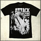 MonsterVision Attack of the Flying Saucers B-Movie UFO SciFi Mens T-Shirt Black