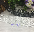 FP126 1 Yard Lace Trim Ribbon For Wedding Bridal Dress Embroidered Sewing Crafts