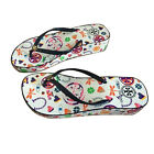 Women Tory Burch WEDGE flat flip flops beach sandals slippers Colorful Summer