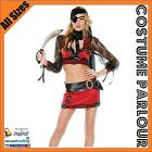 New Womens Sexy Pirate Wench Gypsy Buccaneer Ladies Fancy Dress Costume