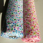 FLORAL PolyCotton fabric - Tiny Dot Daisy -Turq Purple Green Fuschia Orange Lime