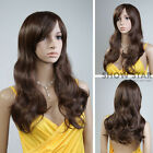 Fashion Womens Long Slight Curly Synthetic Hair Wigs Black/Brown Full Party Wigs