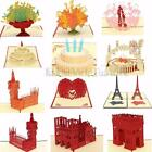 3D Pop Up Greeting Card Happy Birthday Valentine Easter Anniversary Wedding Gift