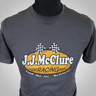 J J McClure Racing Retro Movie T Shirt Grey The Cannonball Run Burt Reynolds 80s