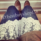 Lace Slip Skirt Extender A-Line Half Slip Extend Shirt Extenders White Color