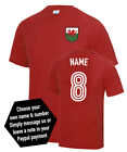 Wales Custom Name & Number Euro 2016 Football T-Shirt Adult & Kids Sizes