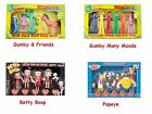 Bendable Figure Box Set Gumby Betty Boop, Popeye, Pokey, moods, Olive Oyl $27.99 USD