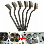 Steel Brush Set Small Cleaning Brushes Wire Rust Sparks Wheels Scrub 180mm