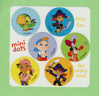 90 Jake and the Never Land Pirates Mini Dot Stickers -  Party Favors - Rewards