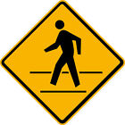 """Pedestrian Crossing Sign 24""""x24"""" or 30""""x30"""" Aluminum 3M Reflective Sign"""