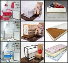 12-PCS NURSERY SET - 10-PCS BEDDING SET + BABY COT + MATTRESS WITH LARGE CANOPY