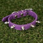 Studded Small Spiked Dog Pet Leather Collar White Pink Red Black Purple S M L