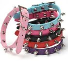 Внешний вид - Studded Small Spiked Rivet Dog Pet Leather Collar Pink Red Black Purple Small XS