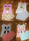 Ladies Pj Shorts & Cami Vest Top Sets Sizes 6 - 20 New Primark Pyjamas Animals