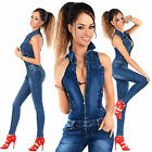 Sexy New Women's Denim Blue Jeans Playsuit Jumpsuit Overall Skinny Slim I 552