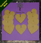 MDF WOODEN HEART SHAPES 60mm x 3mm LASER CUT - UNLIMITED QUANTITIES AVAILABLE