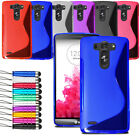 For Various LG Phone Slim Silicone Gel Case Soft Cover + Film + Retractable Pen