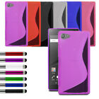 For Various Sony Phone Slim Silicone Gel Case Soft Cover + LCD + Retractable Pen