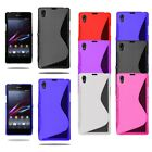 Ultra Slim Gel Case Soft Phone Skin Cover For Sony Xperia M4 Aqua + Screen Film