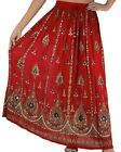 WOMEN's SKIRT INDIAN GYPSY BOHO PEASANT BOLLYWOOD DANCE SEQUINS MAXI Skirt 1size