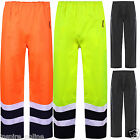 HI VIS VISIBILITY TWO TONE TROUSERS REFELECTIVE SAFETY WORK WEAR WATERPROOF PANT