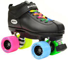 New 2016 Riedell Dart Double Rainbow Quad Derby Speed Roller Skates