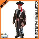 Mens Pirates Of The Caribbean Captain Jack Sparrow Prestige Costume All Sizes