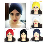 5 Colors Indian Plain Turban Hats Cap Chemo Hijab Hairband Bandana Headwrap