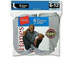 6-Pack Hanes Casual Sports Athletics Ankle Socks BLACK WHITE or GREY Size 38-46