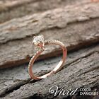 Round Diamond Engagement Ring Size 6.5 14k Rose Gold 1.39 TCW VS G-H Enhanced