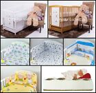 BEARS BABY COT WITH DRAWER + MATTRESS + 6-PCS NURSERY BEDDING SET 15 COLOURS