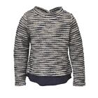 BNWT NAVY BLUE, WHITE & SILVER LAYER EFFECT JUMPER  AGES 3 TO 8 YEARS