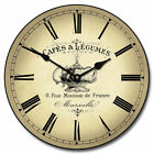 Cafe LARGE WALL CLOCK 10- 48 Whisper Quiet Non-Ticking WOOD HANDMADE