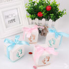 10 50 100Pcs Favor Ribbon Gift Box Candy Boxes  Party Decor Baby shower Sweet