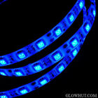 5050 blue LED light strip waterproof adhesive backing AC DC power adapter