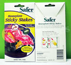 Safer Brand HOUSEPLANT STICKY STAKES Pest Control Pesticide Free Insect Killer