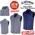 CALLAWAY GOLF VEST MENS GOLF GILET FIBER FILLED BODYWARMER FULL ZIP NEW 2016