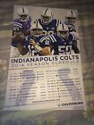 Indianapolis Colts 2014 Schedule Poster Cardboard Signed By Jerrell Freeman Auto