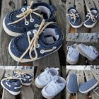 Newborn Boys Girls Baby Kids Soft Sole Casual Canvas Sneaker Toddler Shoes 0-18M