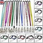 BREAKAWAY LANYARD RHINESTONE SAFTEY CRYSTAL ID CARD BADGE HOLDER KEY MOBILE