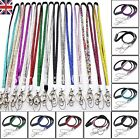 BREAKAWAY LANYARD RHINESTONE CRYSTAL ID CARD BADGE HOLDER KEY MOBILE