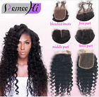 Brazilian loose Wavy Lace Closure 3 Way Part Human Hair silk Top lace Closure