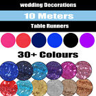 10M Meter Long Satin Sequin Table Runner Cover Wedding Party Event  Decoration