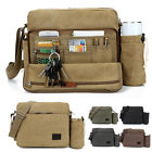 Canvas Shoulder Bag Messenger bag Crossbody bag Multifunction Retro Satchel