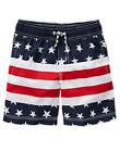 NWT Gymboree USA Patriotic American Flag Stars & Stripes Swim Trunks Shorts Boys