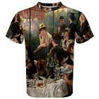 Luncheon of the Boating Party by Pierre Auguste Men's Sport Mesh T-Shirt XS-3XL